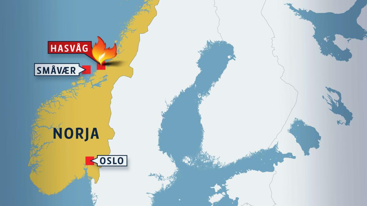 Valtava Tulipalo Norjassa Mahdollisesti Jopa Yli 130 Rakennusta