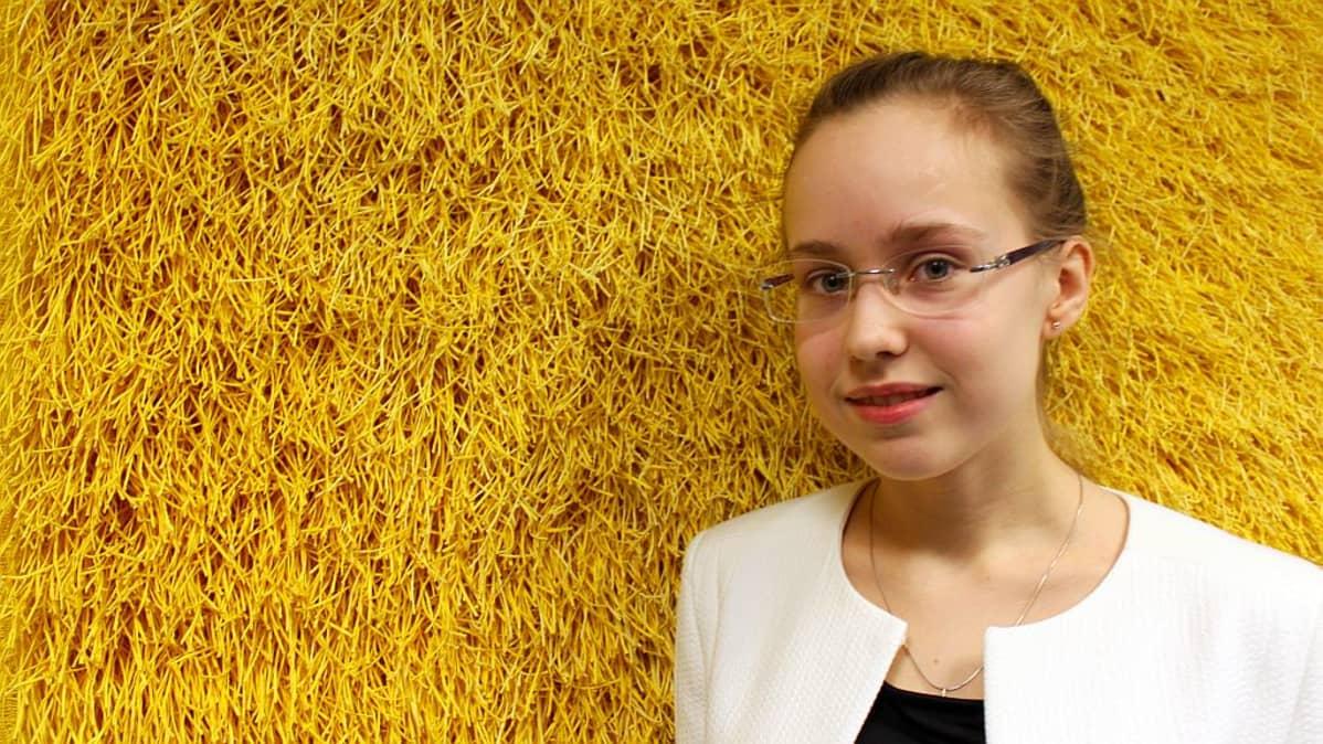 Maria Hämäläinen osallistui Ilmari Hannikaisen pianokilpailuun vuonna 2014.