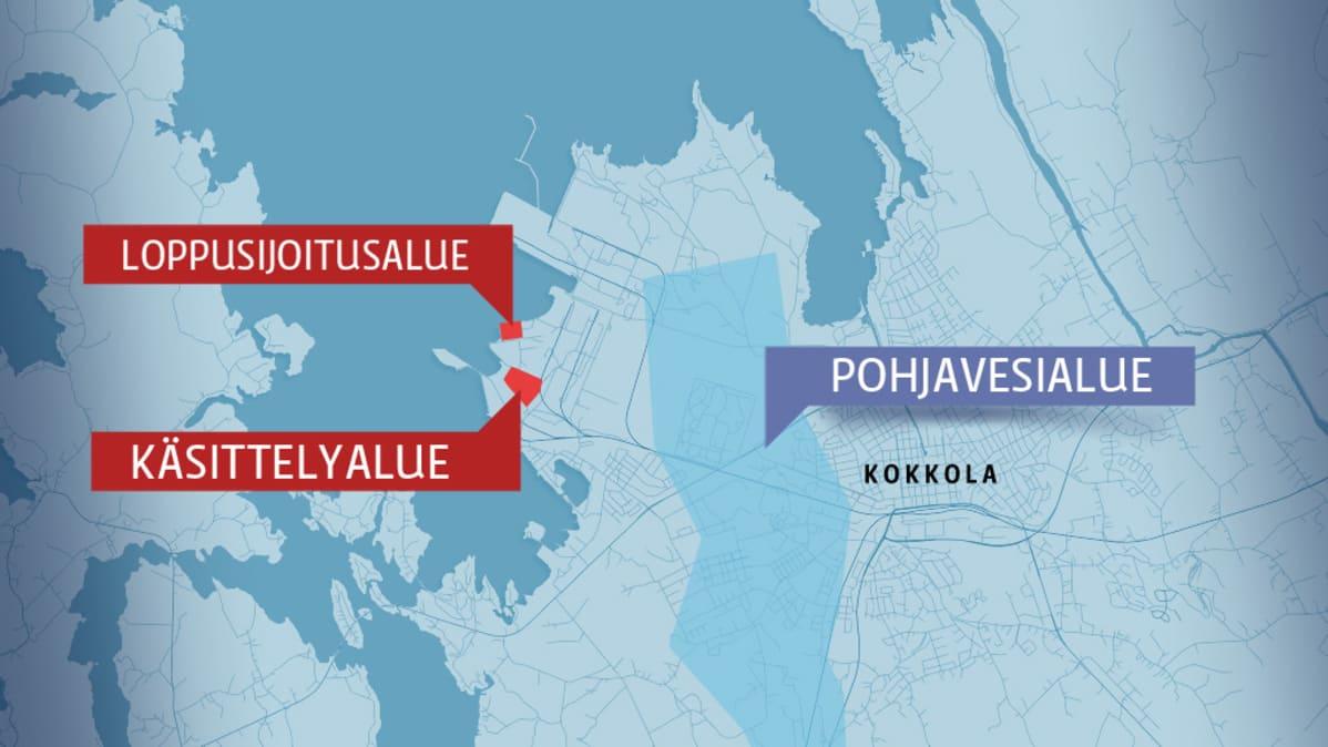 Ekokemin laitosta varten on varattu kaksi maa-aluetta suurteollisuusalueelta.