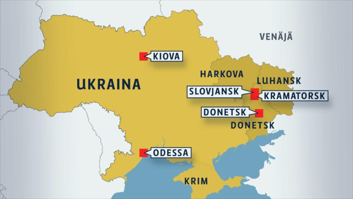 Lue Kooste Lauantain Tapahtumista Ukrainassa Yle Uutiset Yle Fi