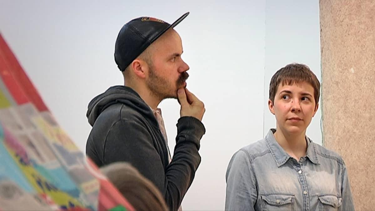 Vuoden nuori taiteilijia 2014 -näyttely, Janne Nabbin ja Maria Teeri