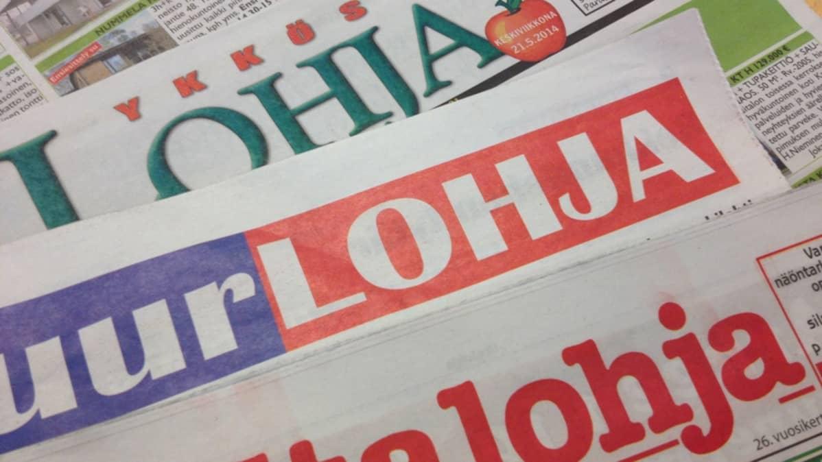 Lohjalla ilmestyy kolme kaupunkilehteä keskiviikkoisin.