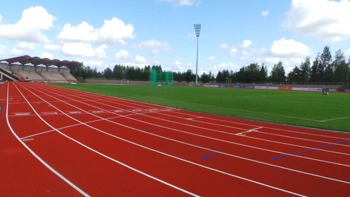 Porin stadion kesällä