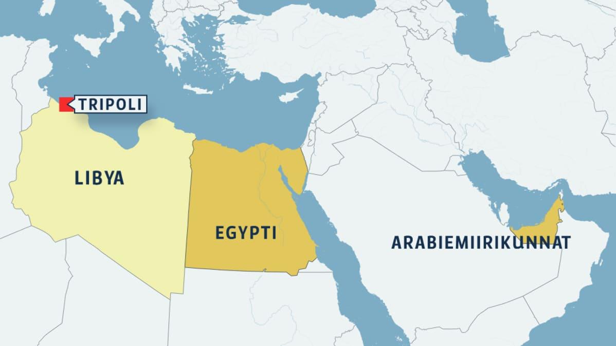 Nyt Arabiemiraattien Ilmavoimat Tehnyt Ilmaiskuja Libyaan Yle