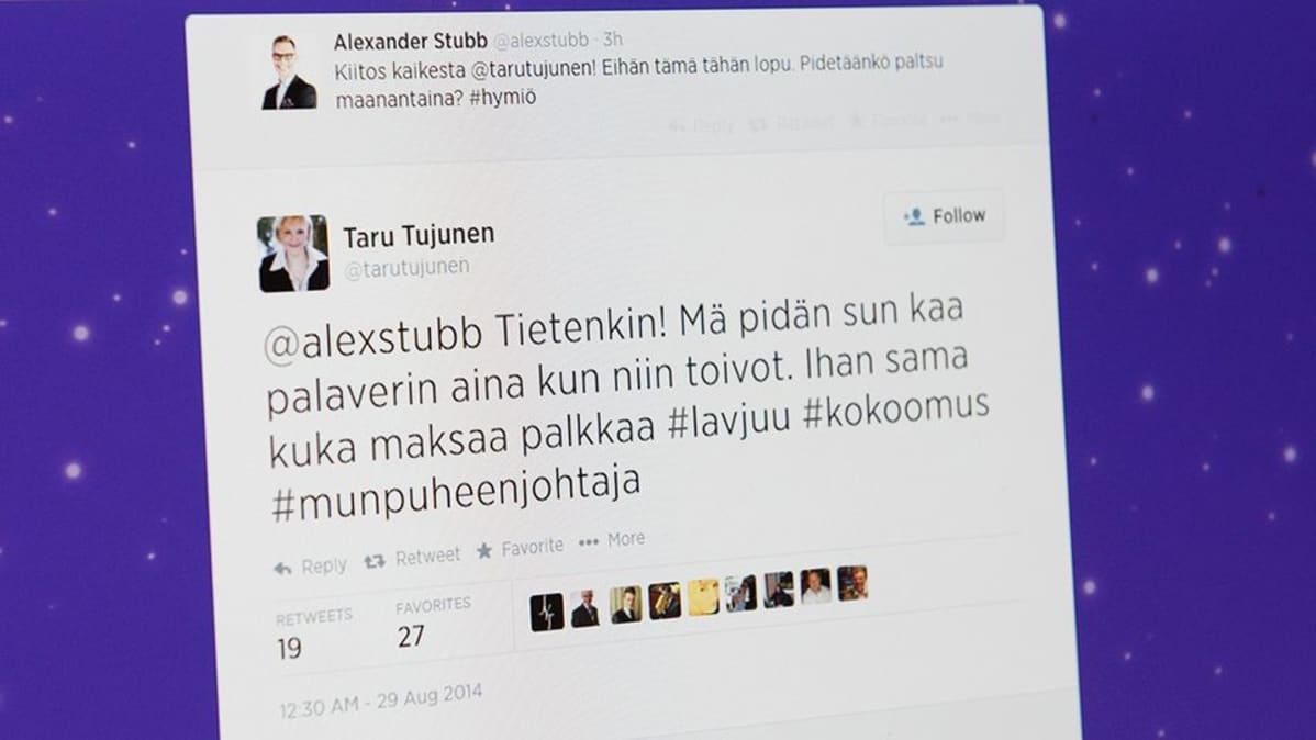 Twitter-sivusto.