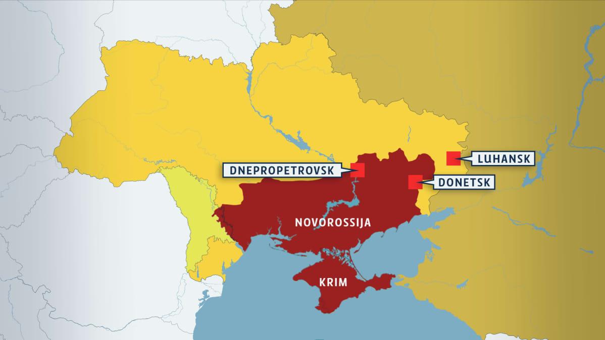 Viimeksi Tsaarin Aikana Mihin Putin Piirtaisi Novorossijan Rajat