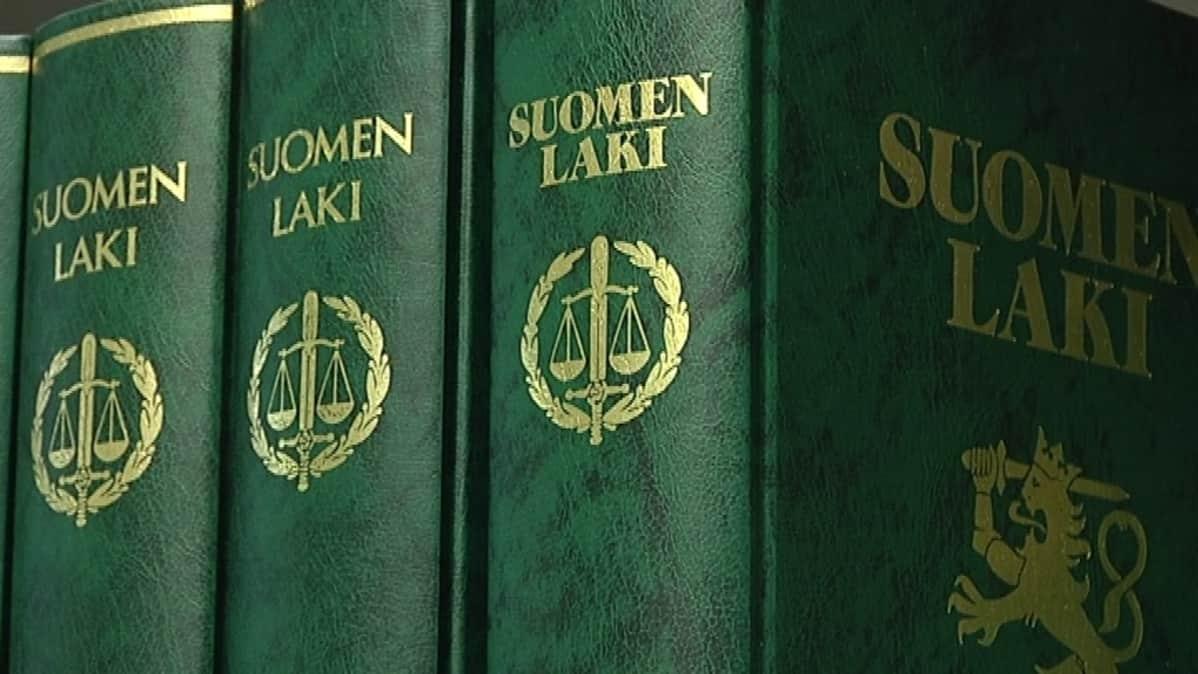 Lakikirjat, laki, oikeus, oikeudenkäynti, laillisuus, lakitieto, Suomen laki