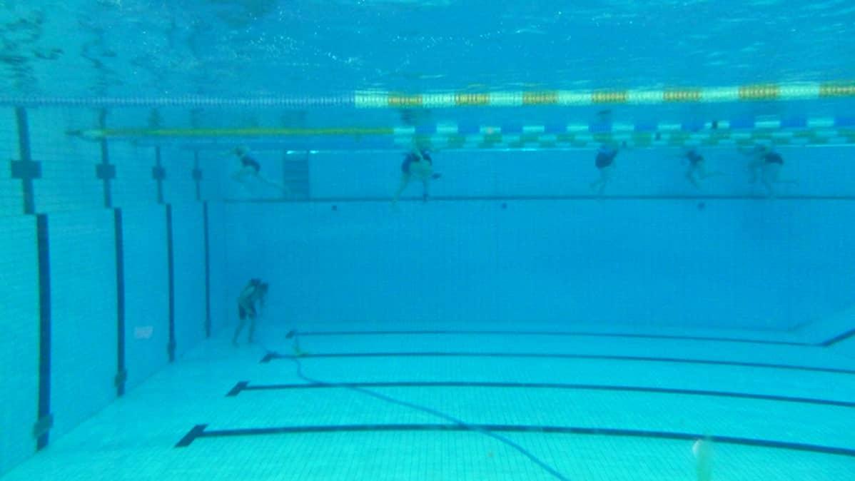 Raksilan uimahallin allas.