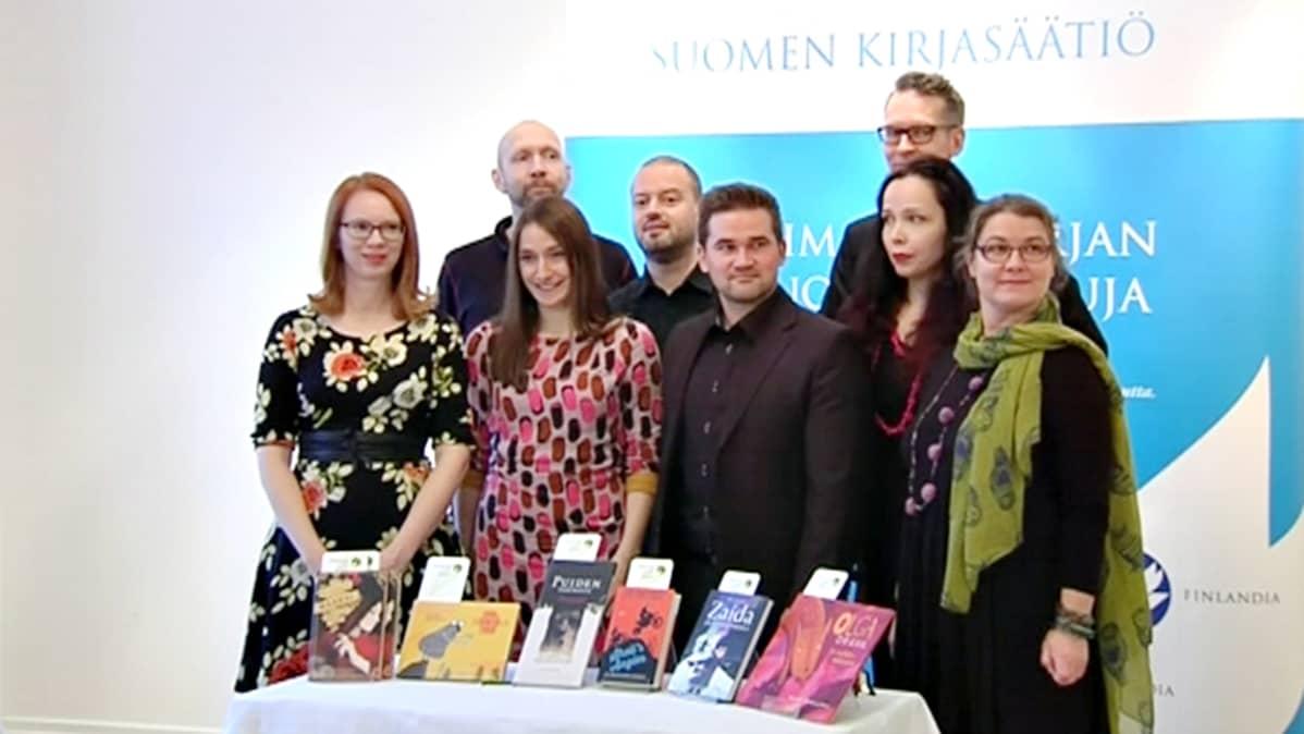 Finlandia Junior -palkinnosta kilpailevat ehdokkaat.