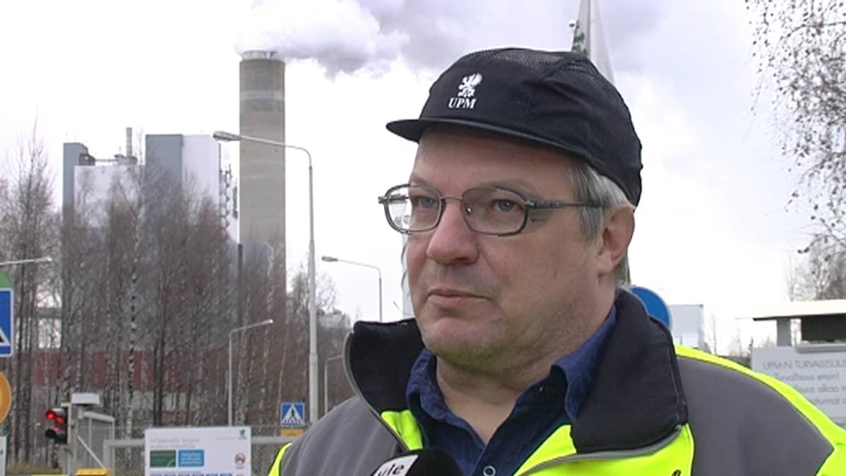 UPM pääluottamusmies Kari Rikkilä