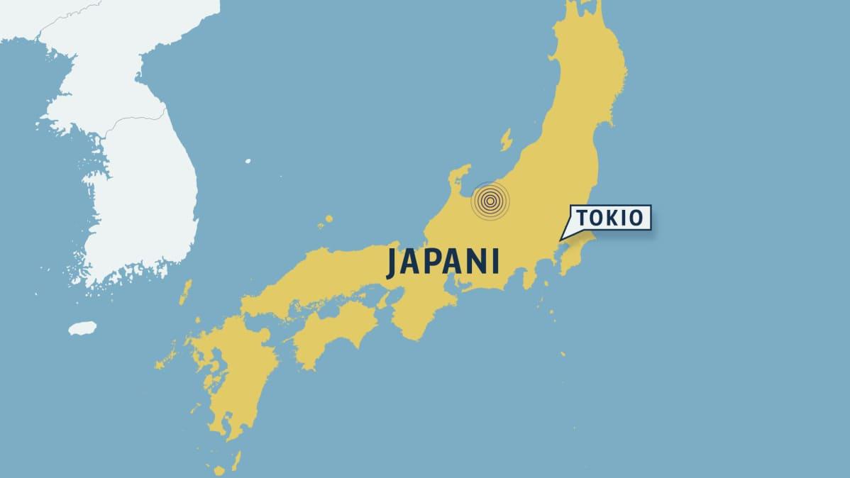 Japanissa Voimakas Maanjaristys Vahingot Jaivat Vahaisiksi Yle