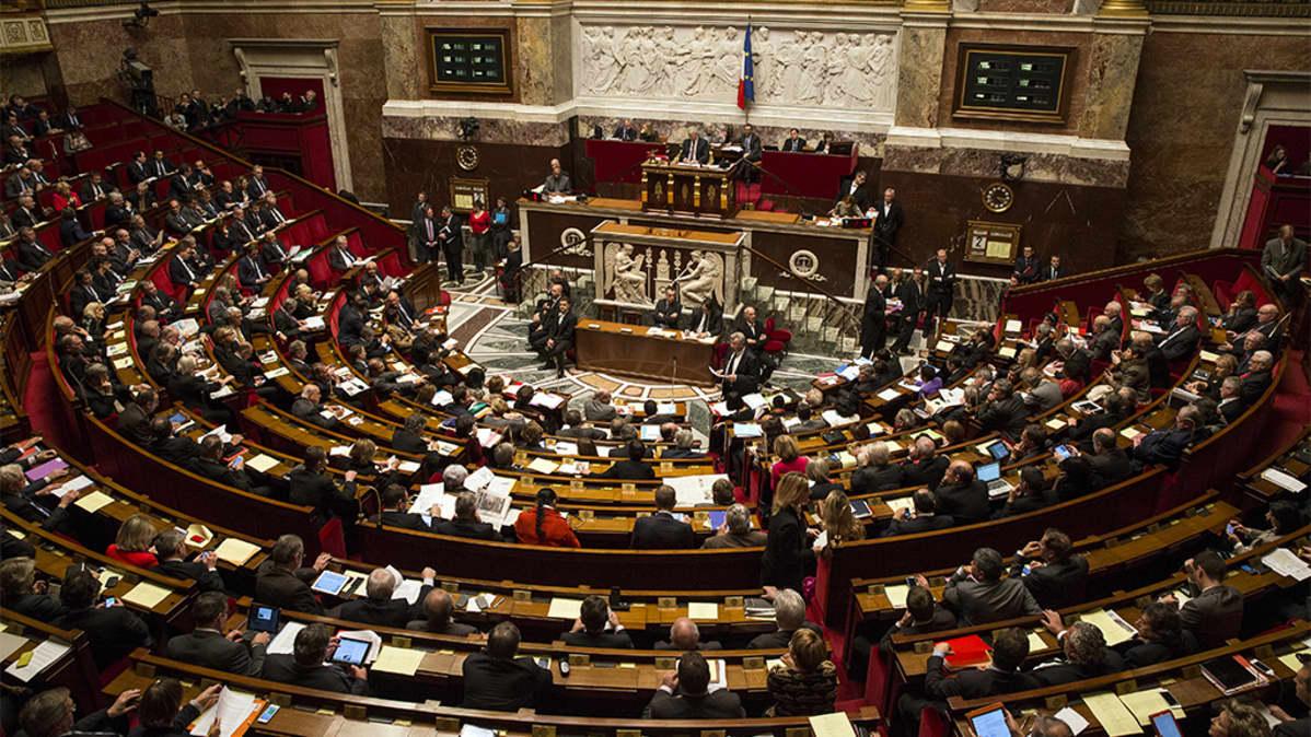 Ranskan parlamentti joulukuussa 2014.