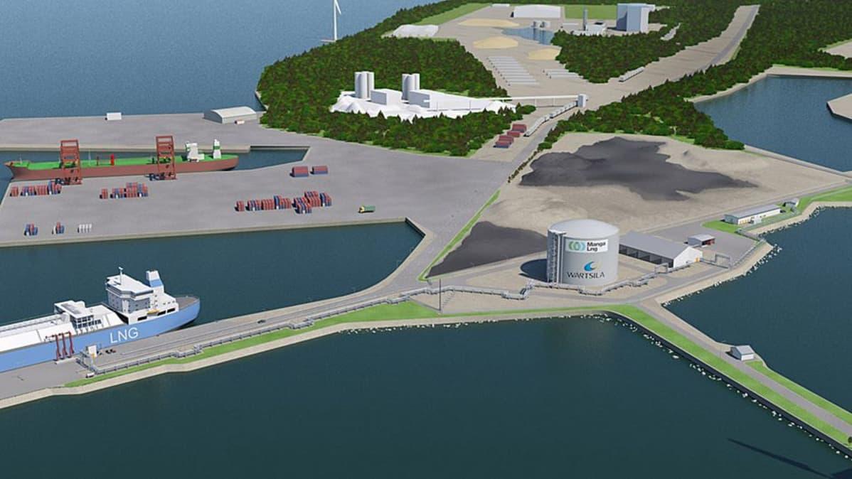 Tornion Röyttään rakennetaan LNG-terminaali.