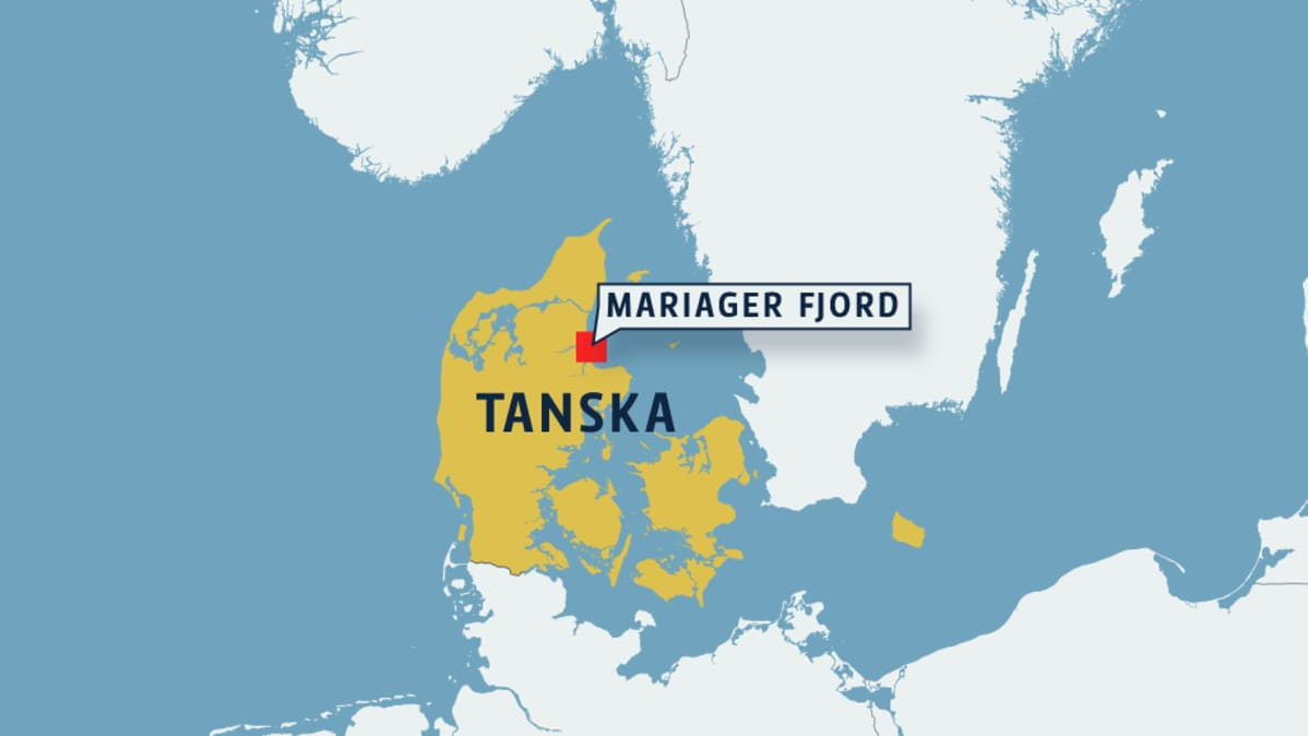 Kartta Mariager Fjordista