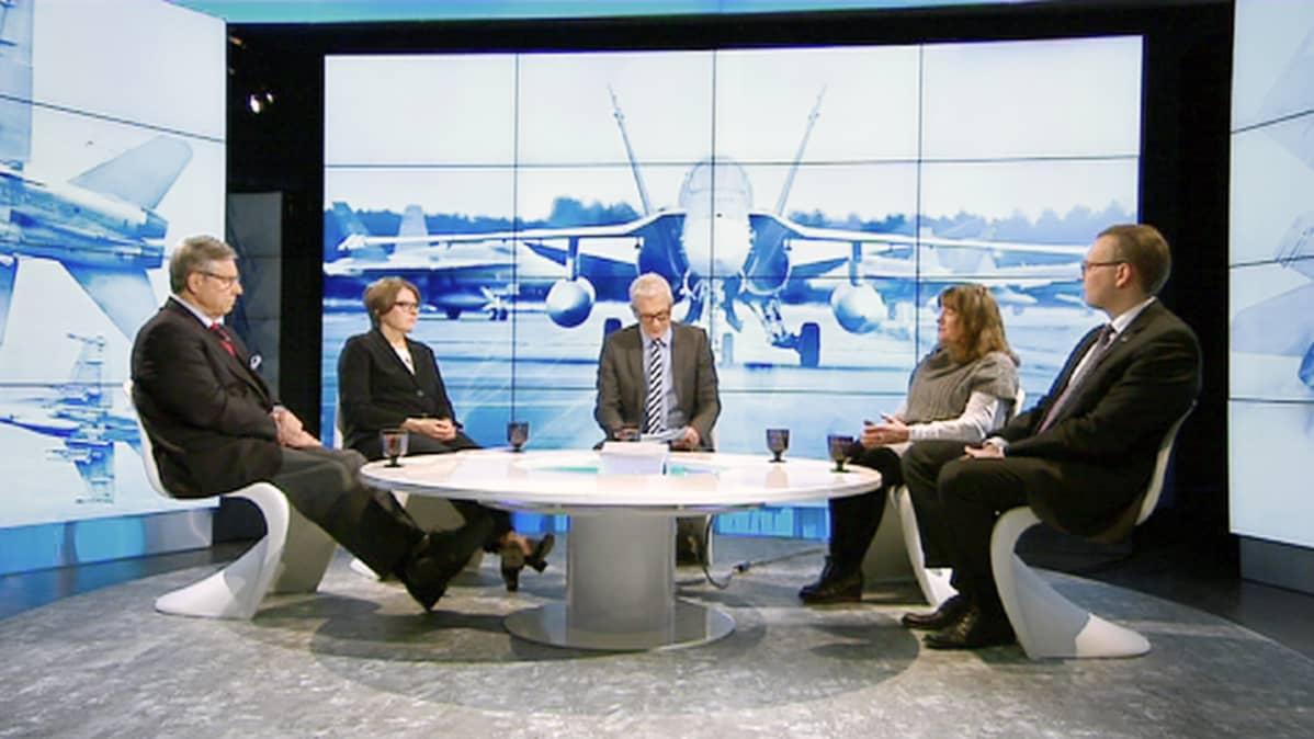 Pertti Salolainen, Heidi Hautala, Yrsa Grüne ja Jussi Niinistö