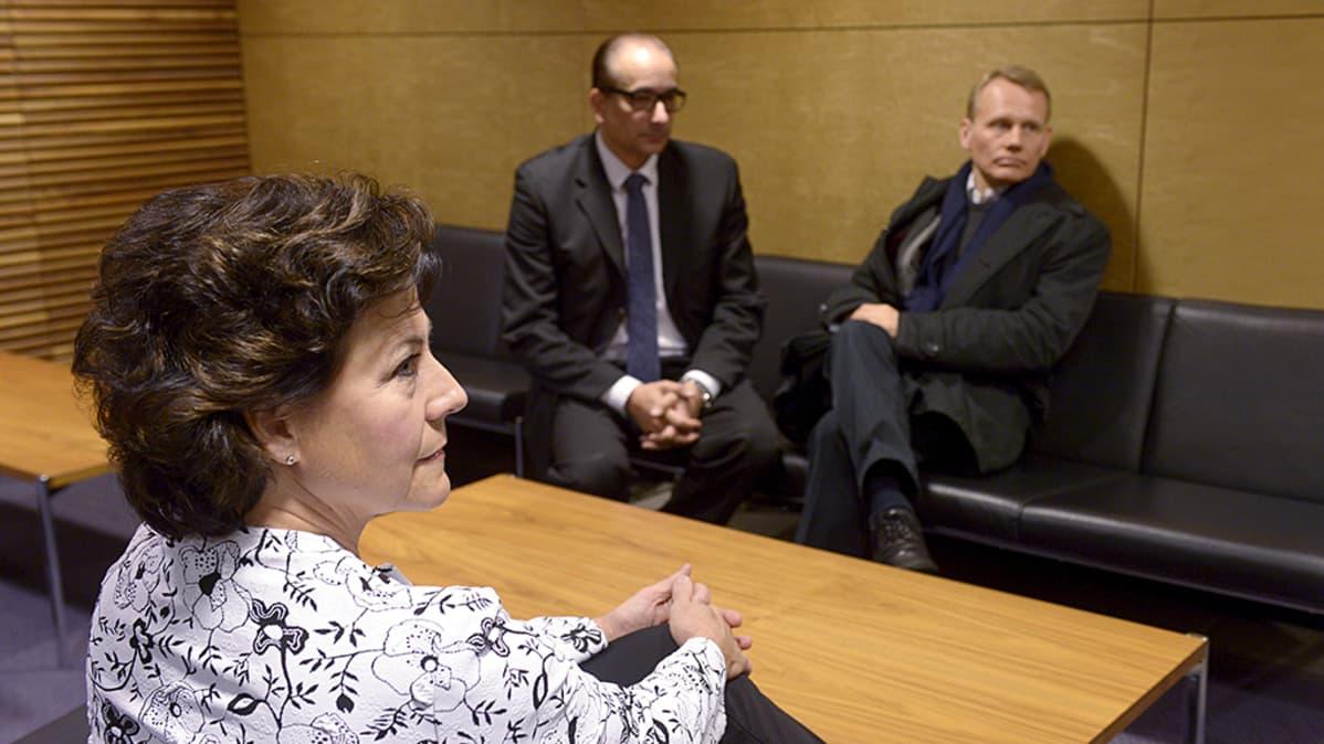 Hilkka Ahde, Timo Räty ja Heikki Lampela.
