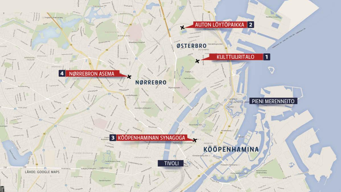 Kööpenhaminan kartta.