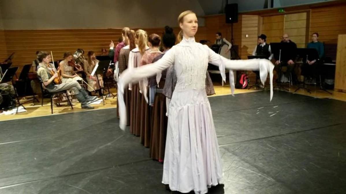 Janne ja Aino -teoksen harjoitukset Keski-Pohjanmaan konservatoriolla Kokkolassa.