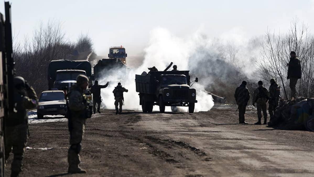 Debaltseve Ukraina taistelut.
