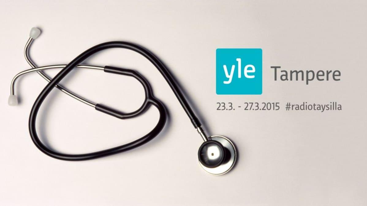 Yle Tampereen logo ja stetoskooppi