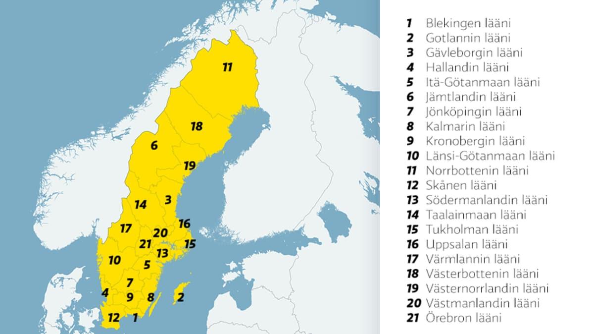 Myos Ruotsi Aloittaa Aluehallinnon Uudistuksen Yle Uutiset Yle Fi