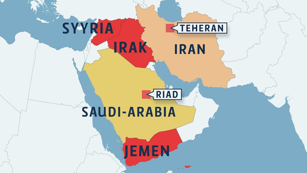 Jemenista Tuli Voimakaksikko Iranin Ja Saudi Arabian Tuorein