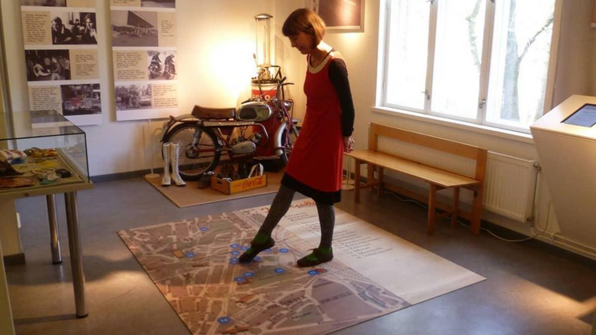 Emilia Haavisto Riihimäen kaupungin useon Kartsalla-näyttelyssä