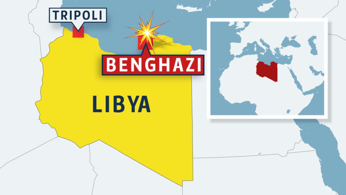 Kahdeksan Kuollut Raketti Iskussa Libyassa Yle Uutiset Yle Fi