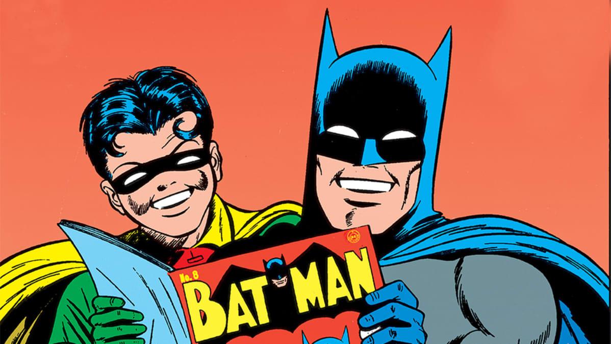 Batman-sarjakuvagrafiikkaa.