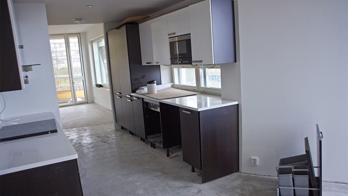 Remontissa tai rakenteilla oleva asunto ja sen keittiö