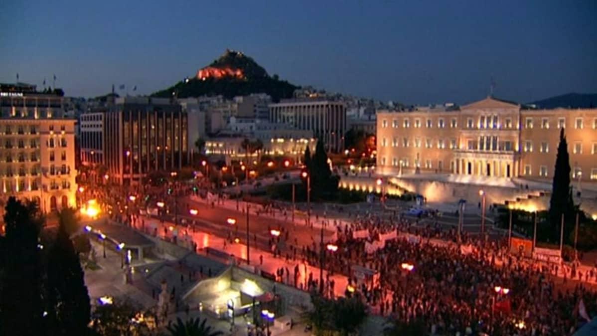 Ateenassa mielenosoitus