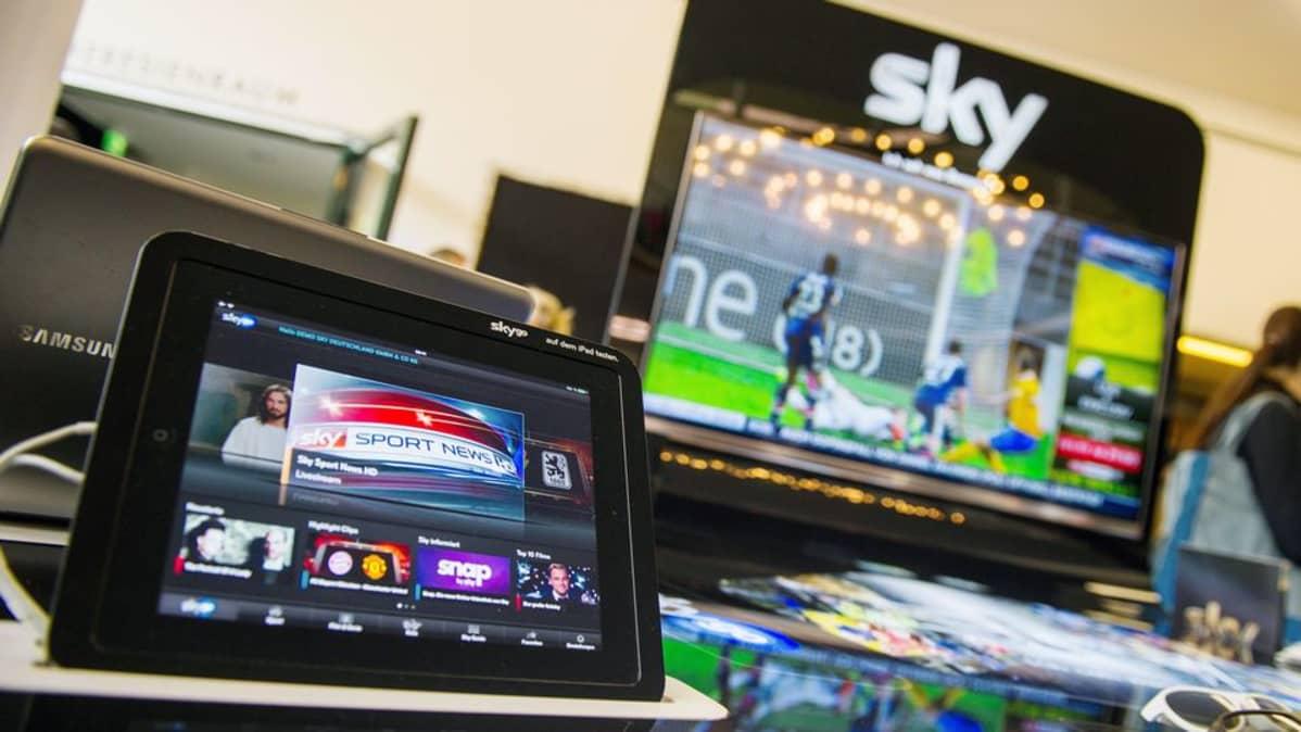 Sky-maksukanavan ohjelmia mobiililaitteissa.