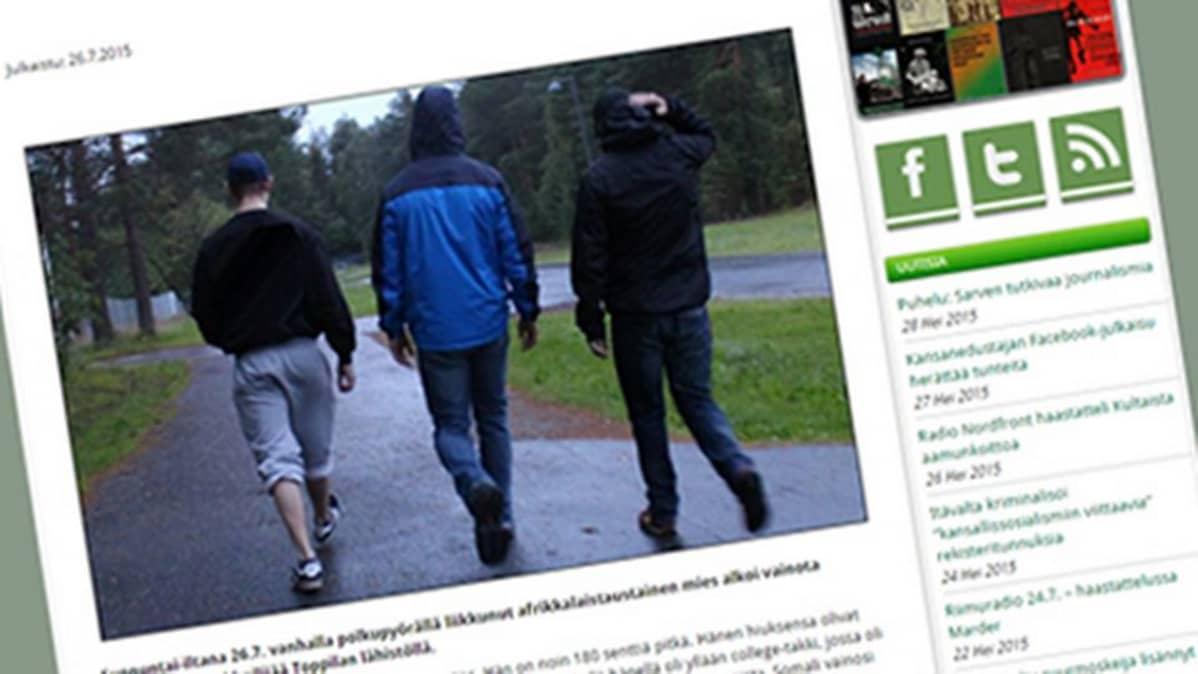 Kuvakaappaus Patriootti.com-sivustolta.