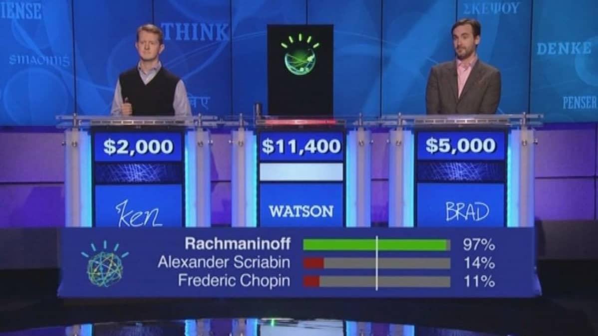Watson päihitti Jeoprady TV-visailussa ohjelmasarjan menetyneimmät kisailjat.