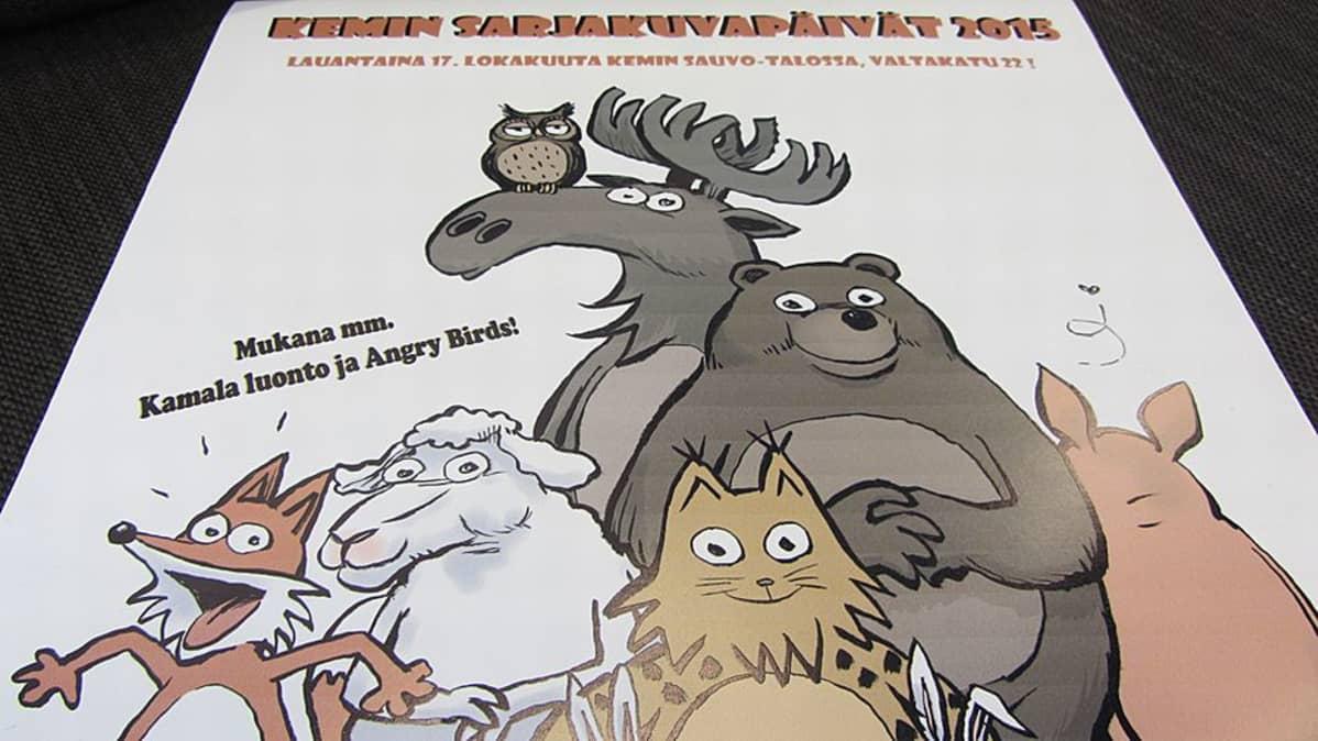 Kemin 34. sarjakuvapäivien juliste.