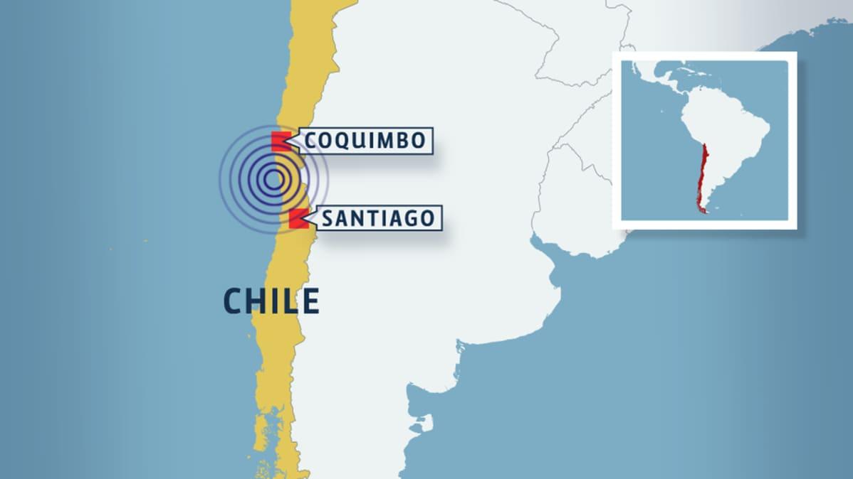 Voimakas Maanjaristys Ravisteli Chilea Koko Rannikolle