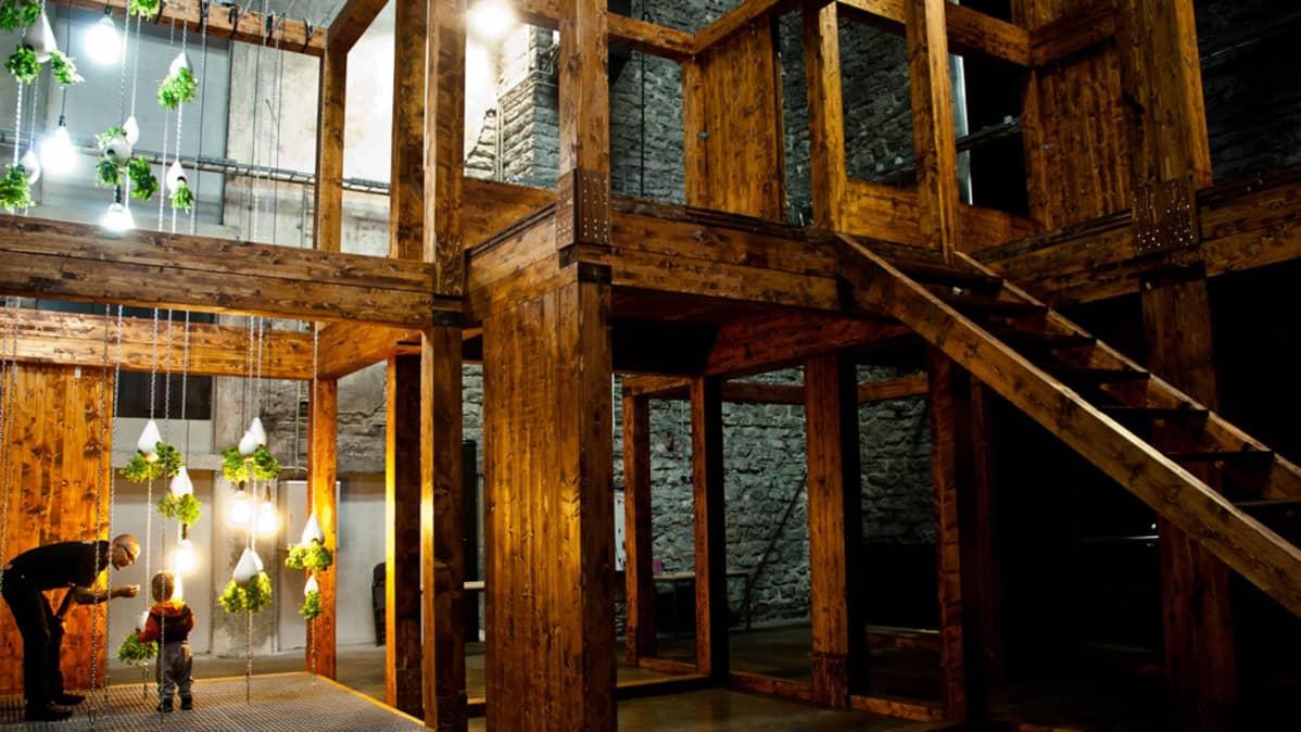Casagrande Laboratoryn arkkitehtuuria. Kuva Tallinna arhitektuuribiennaalista.