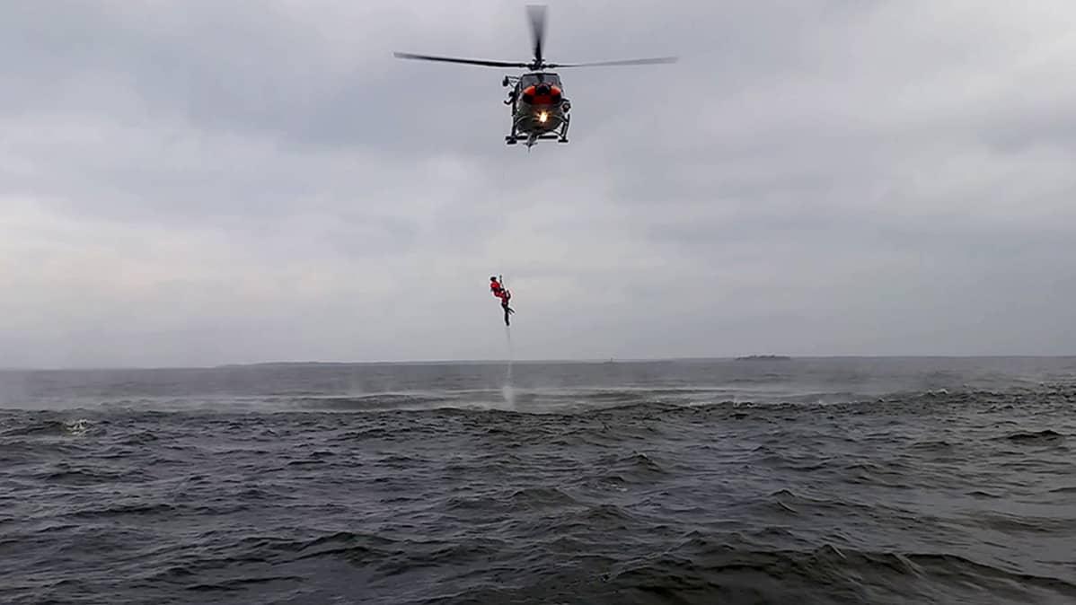 Pelastusharjoitus Perämerellä 24.9.2015