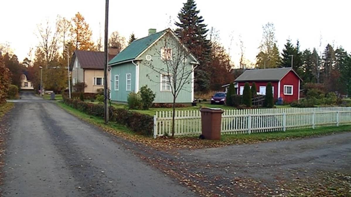 Puutaloja Seinäjoen Kapernaumissa.