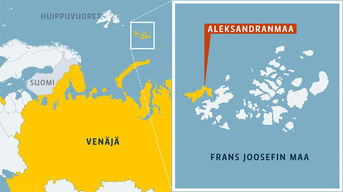 Aleksandranmaa kartalla