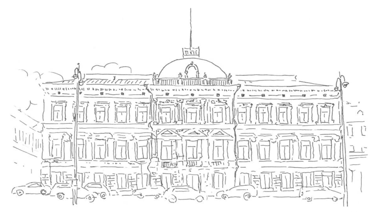 Korkein oikeus rakennus -piirros