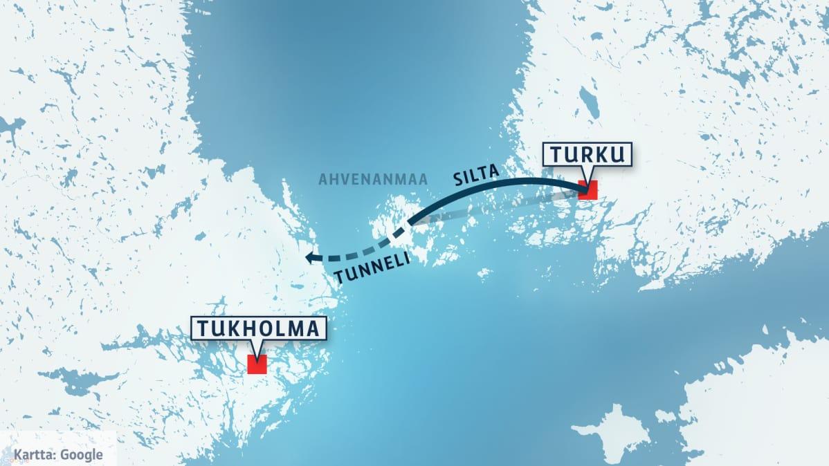 Tunneli Ruotsiin Tuleeko Turusta Tukholman Esikaupunki Yle