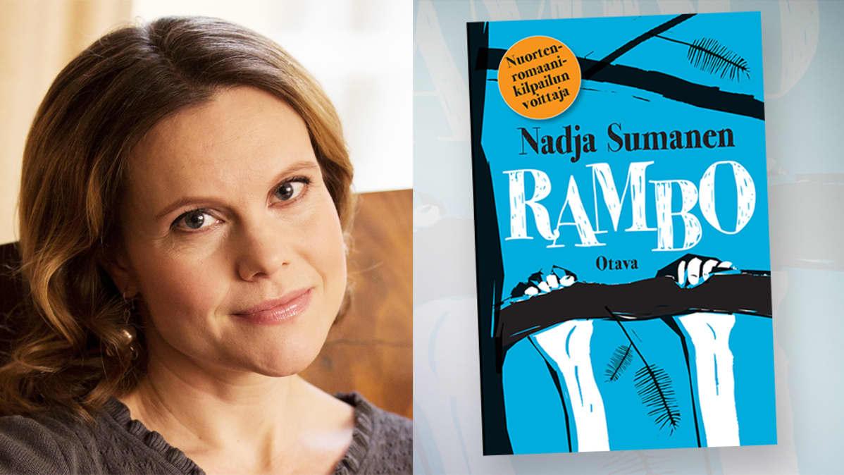 Nadja Sumanen ja Rambo-kirja.
