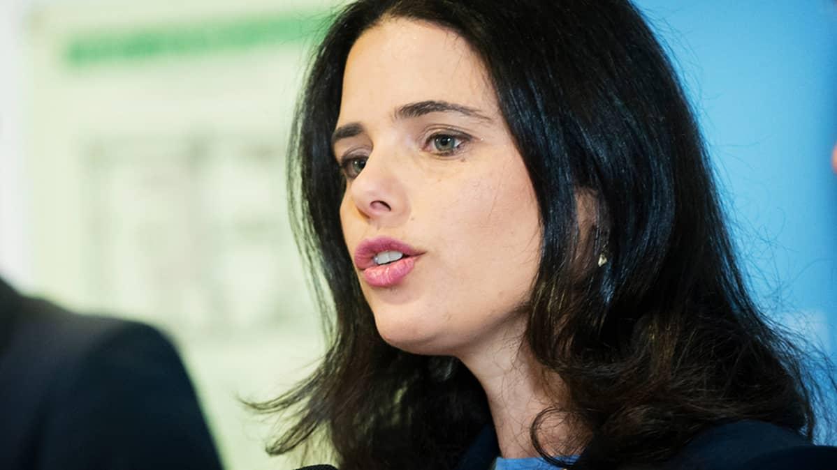 Israelin oikeusministeri Ayelet Shaked.