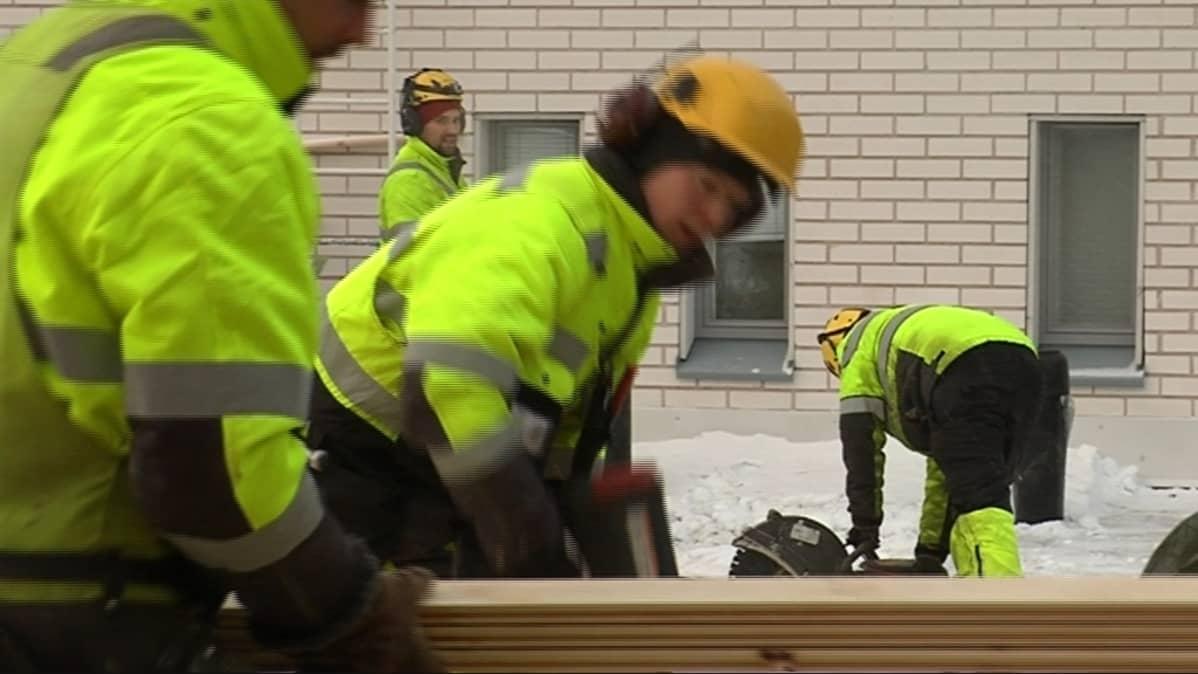 Lapissa rakennusala on kasvussa, suurin osa töistä keskittyy asuntorakentamiseen ja Rovaniemelle.
