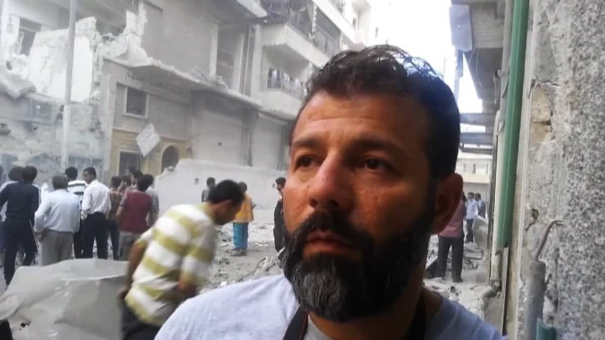 kuvakaappaus Dokumenttielokuvasta Matkalla Aleppoon