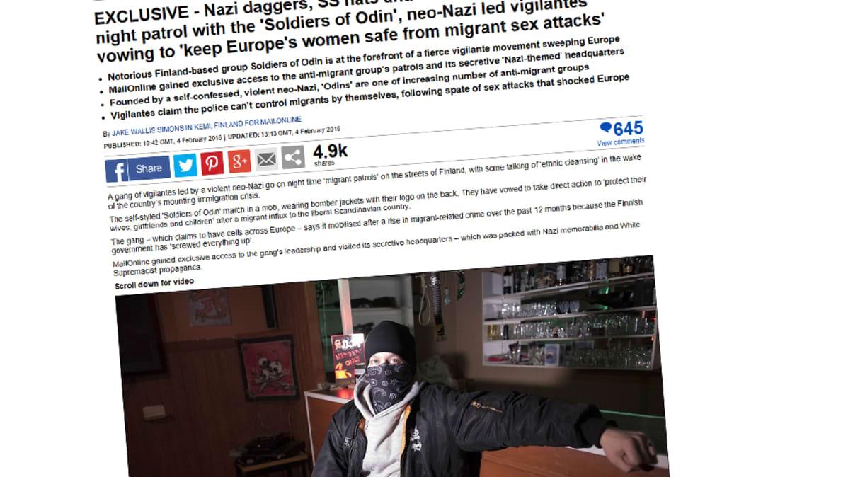 Kuvakaappaus Daily Mailin sivusta.