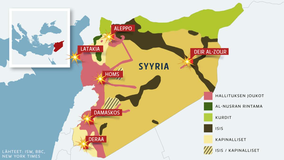 Venajan Mukaan Jokainen Pommi Osui Maaliinsa Syyriassa Yle