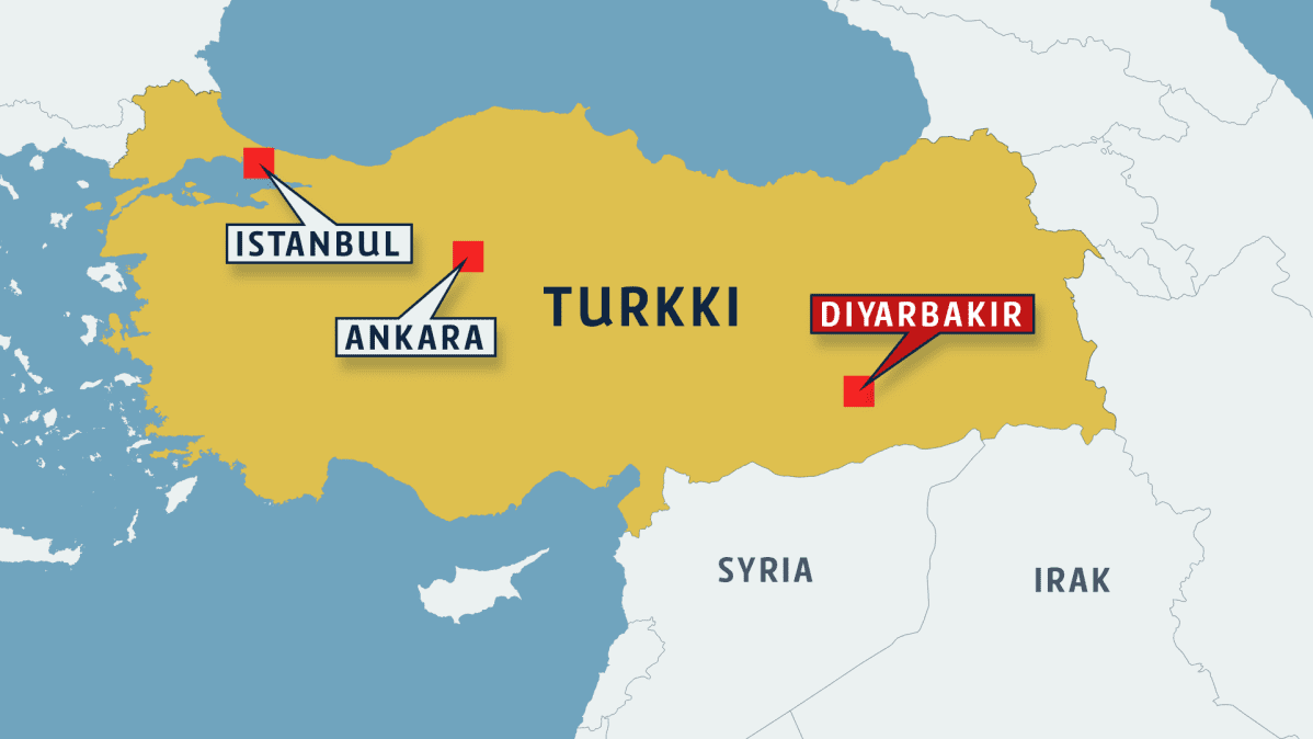 Turkin Diyarbakirissa Raketti Isku Lentokentalla Yle Uutiset