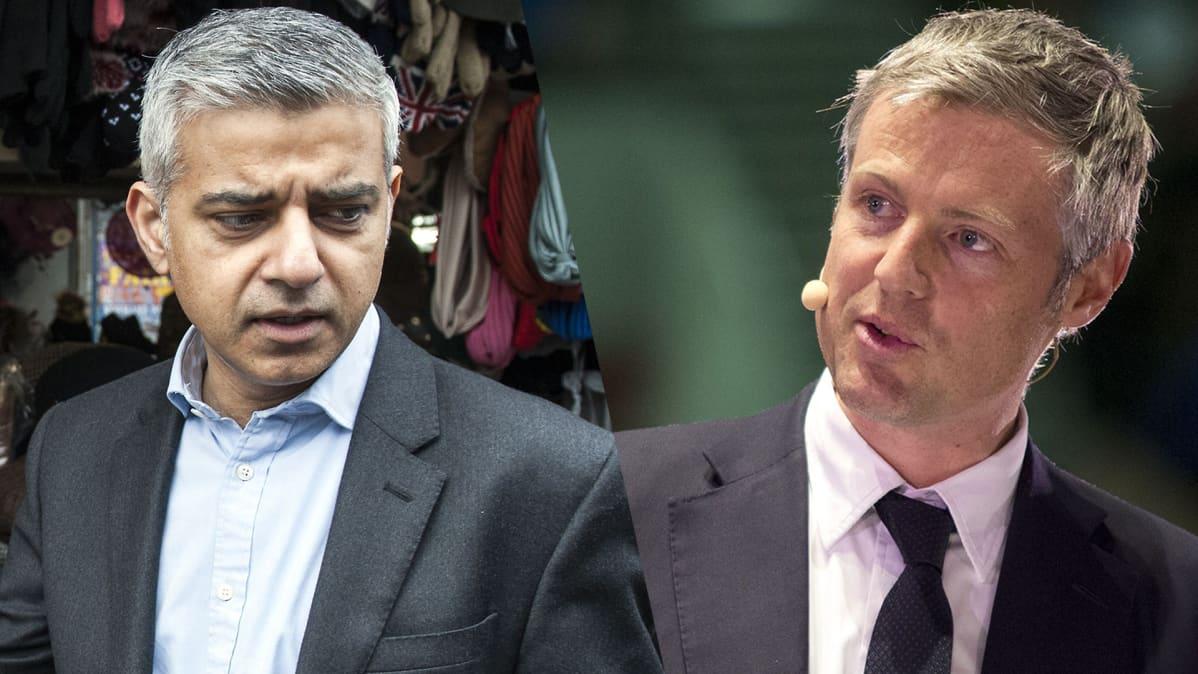 Sadiq Khan ja Zac Goldsmith.